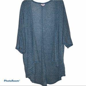 'LULAROE' WOMENS blue Cardigan medium